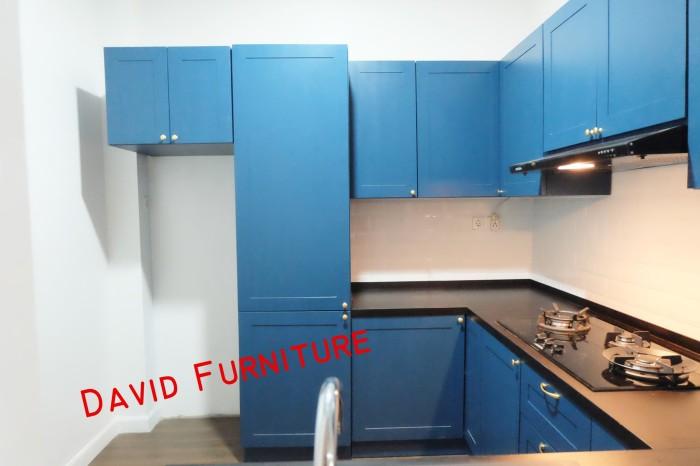 Jual Kitchen Set Ala Ikea Warna Biru Meja Granit Hitam Sink Blanco