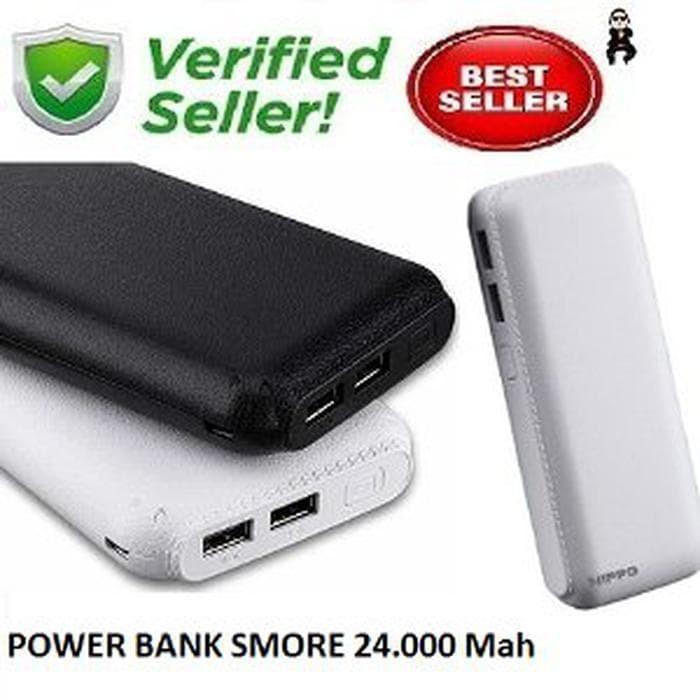 Unik Powerbank Hippo Smore 24000 mah + Tas Original Diskon