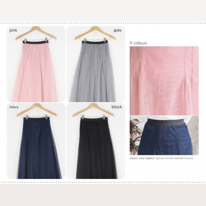 r759 bawahan rok midi maxi tutu skirt tule casual formal