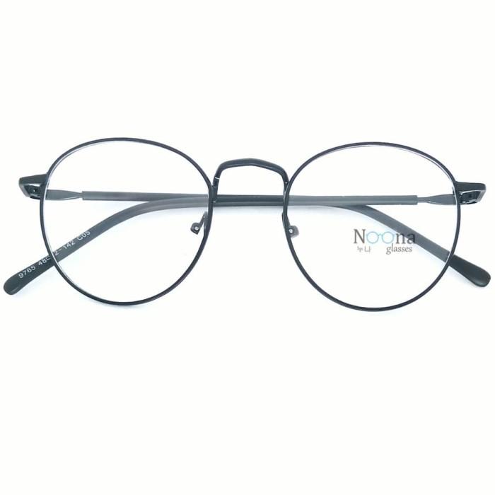 harga Frame Kacamata Korea Minus Pria Wanita Bulat N002 Fbl Hitam Blanja.com 90eef9e059