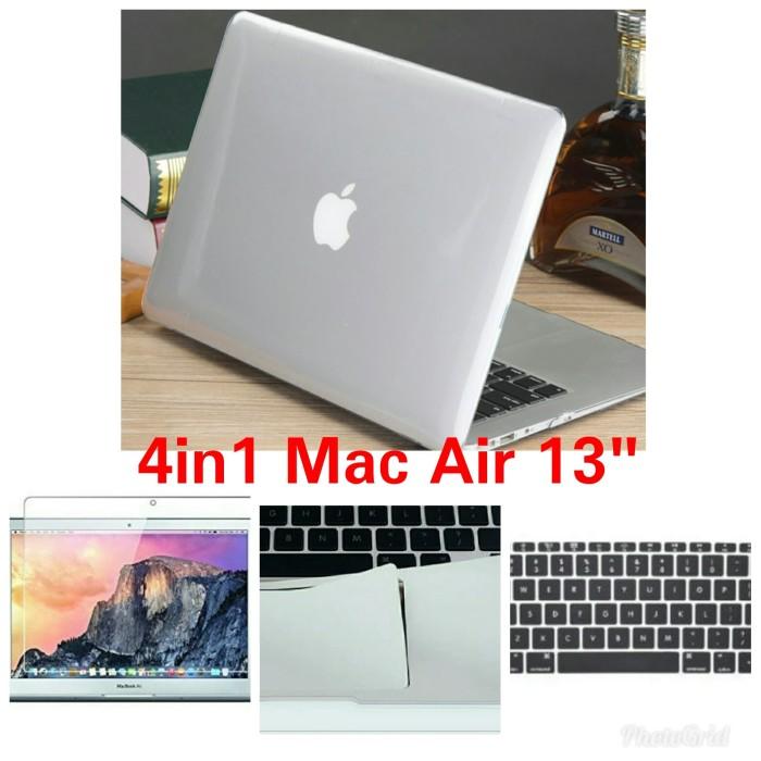 4in1 Case Macbook Air 13 Clear,PalmGuard,Anti Gores,Cover Keyboard -