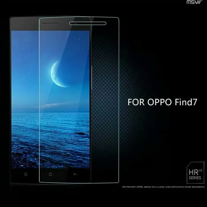 ... Clear Tempered Glass OPPO FIND 7 X9007 Screen Guard Anti Gores Kaca 9H