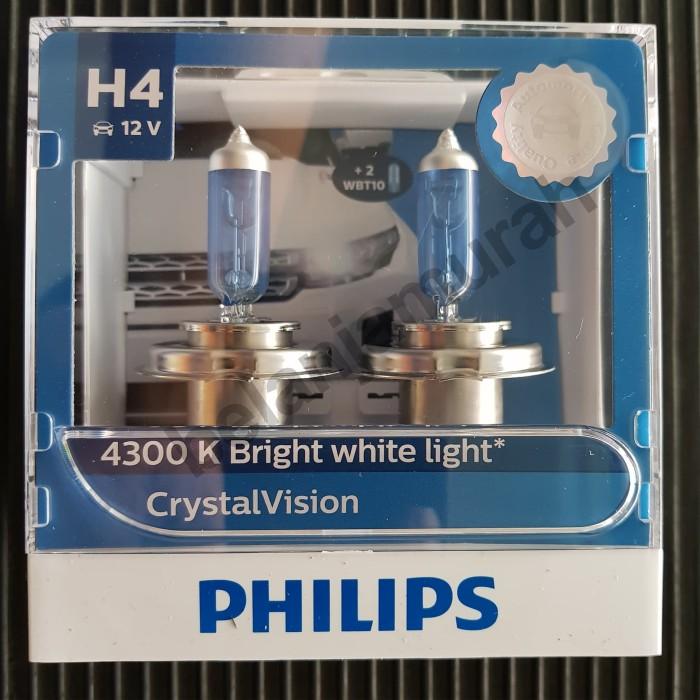 ... harga Philips crystal vision h4 12v 60/55w bohlam mobil 4300k crytalvision Tokopedia.com