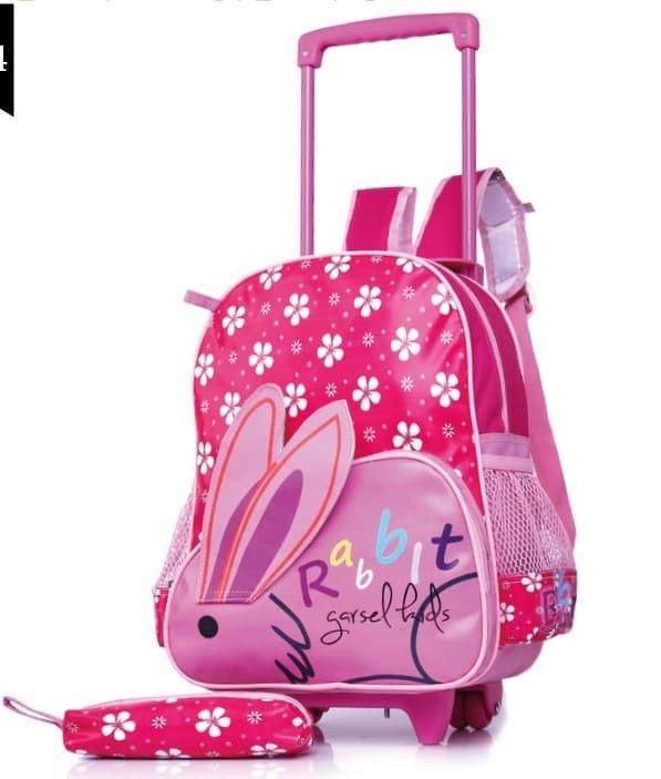 tas sekolah anak perempun.tas troly/koper/roda anak cewek/sgiz9w1