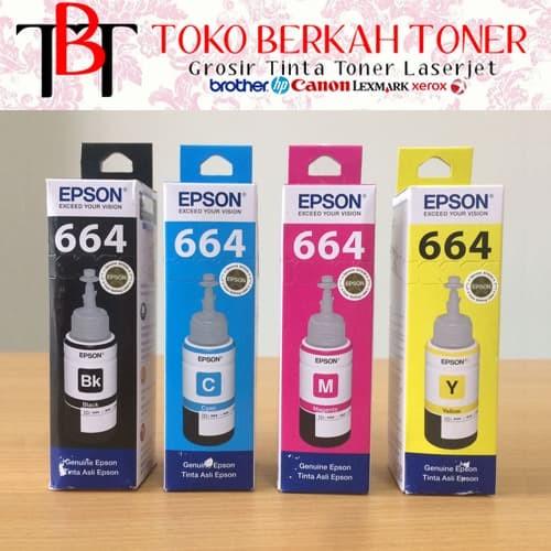 Foto Produk Tinta Epson 664 Original 1 SET dari Toko Berkah Toner
