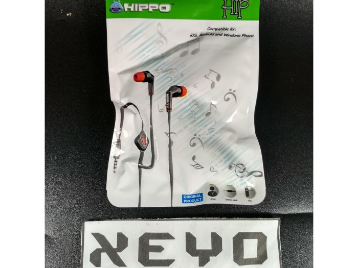 Headset Headphone Handsfree Earphone Earbud Hippo Hip Original
