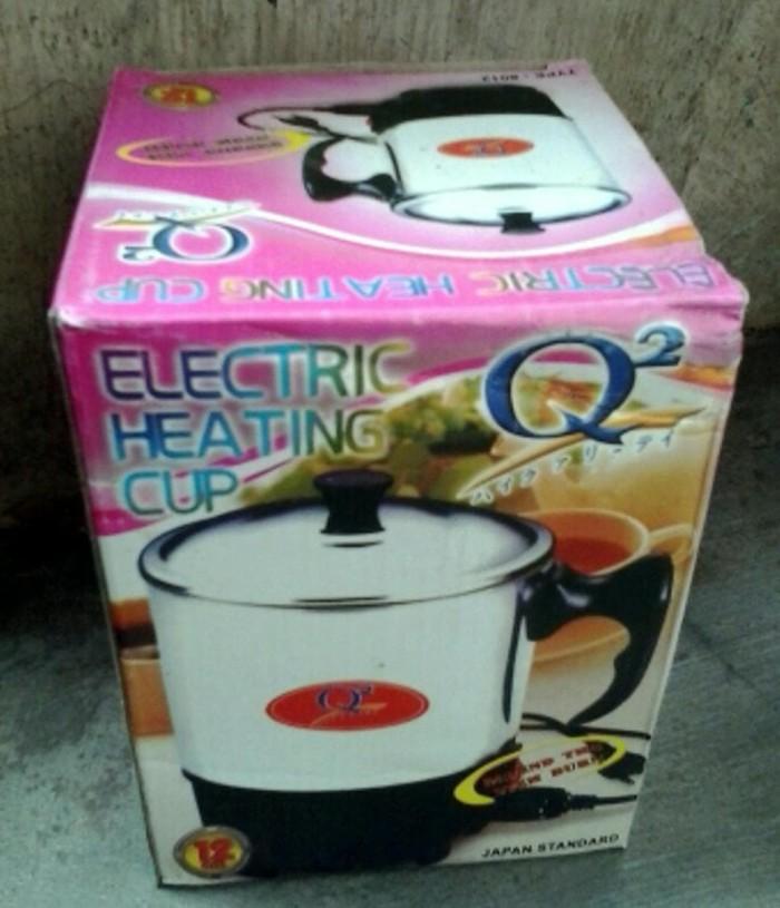 Teko-Mug Listrik Pemanas Air Q2 Heating Electric Cup 12 Cm Stainlles
