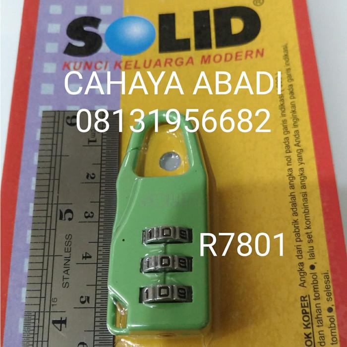 GEMBOK KOPER / TAS ANGKA SOLID R7801