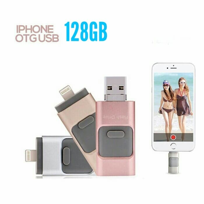 harga Flashdrive flashdisk otg iphone 128gb 3in1 for all iphone android pc Tokopedia.com