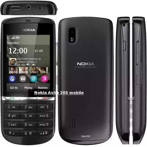Jual Nokia Asha 300 Handphone Classic Murah Bisa Whatsapp Hitam
