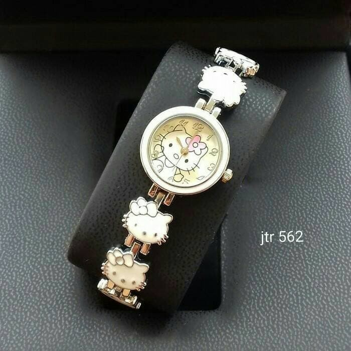 aad2d2145 Jual jam tangan wanita perempuan hello kitty putih watch unik lucu ...