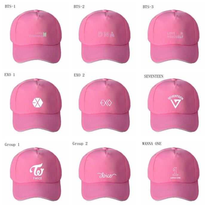 Jual Topi Baseball Motif BTS TWICE Wanna One Adjustable untuk Pria ... a890a0d9352a