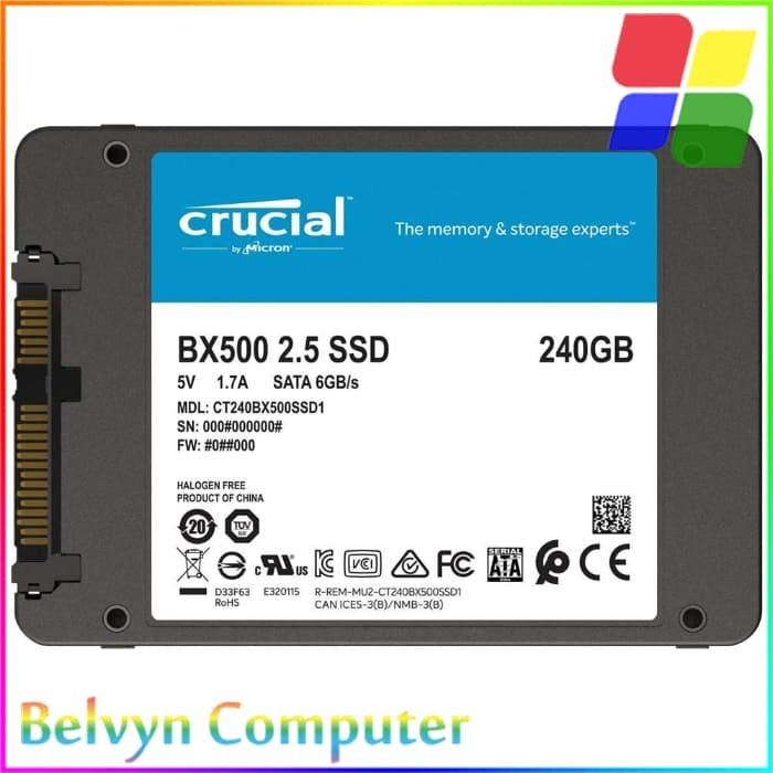 Update Harga Crucial BX500 240GB SSD SATA 3 HDD Hardisk