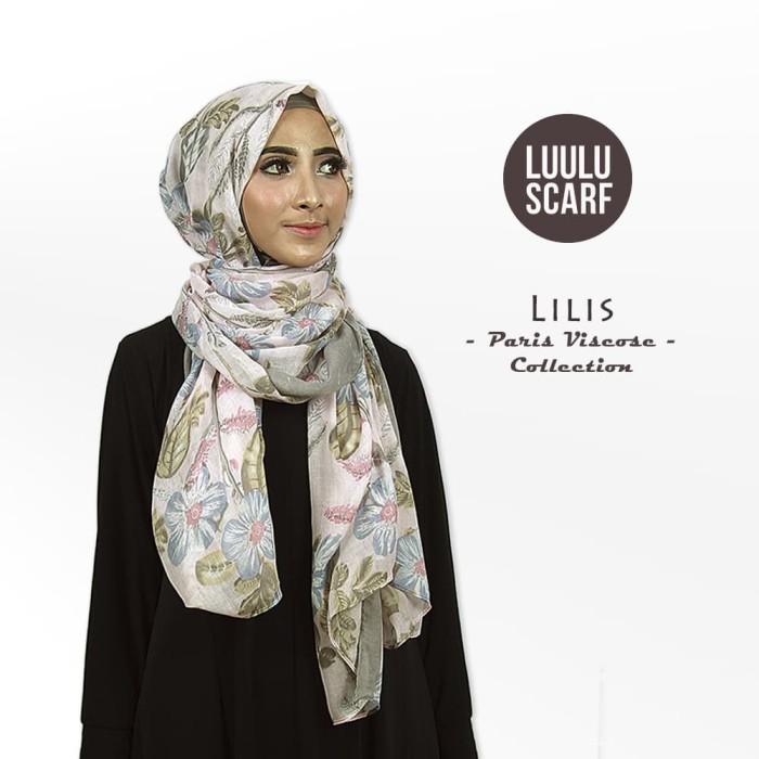 Lilis | bunga | bahan paris | pashmina motif / jilbab / kerudung