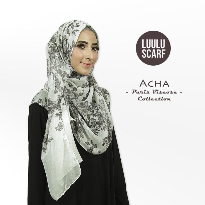 Acha | bunga | bahan paris | pashmina motif / jilbab / kerudung