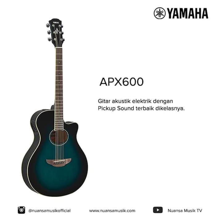 harga Yamaha apx 600 acoustic electric guitar - biru Tokopedia.com