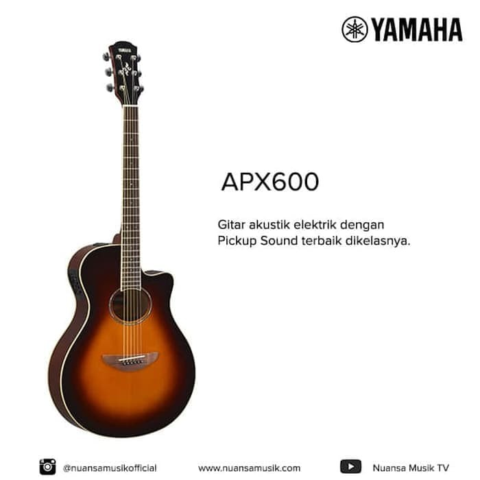 harga Yamaha apx 600 acoustic electric guitar - merah Tokopedia.com