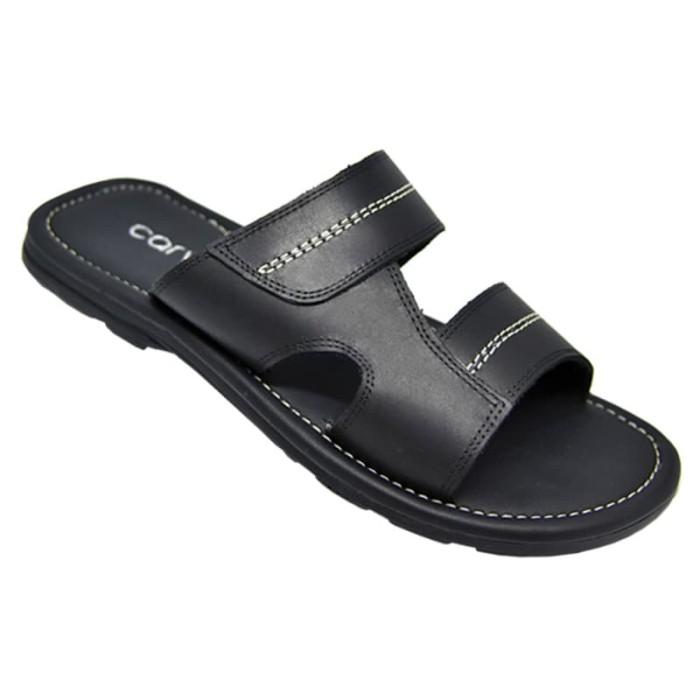 Carvil sandal casual pria porto-02m black - hitam 42 .