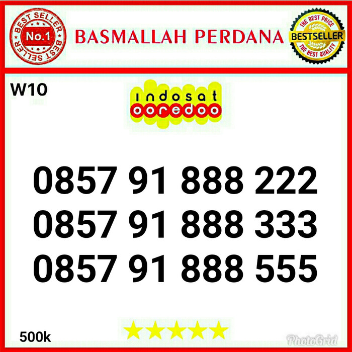 Nomer Nomor Cantik IM3 Seri Double Triple 888222 0857 91 888 333 W10