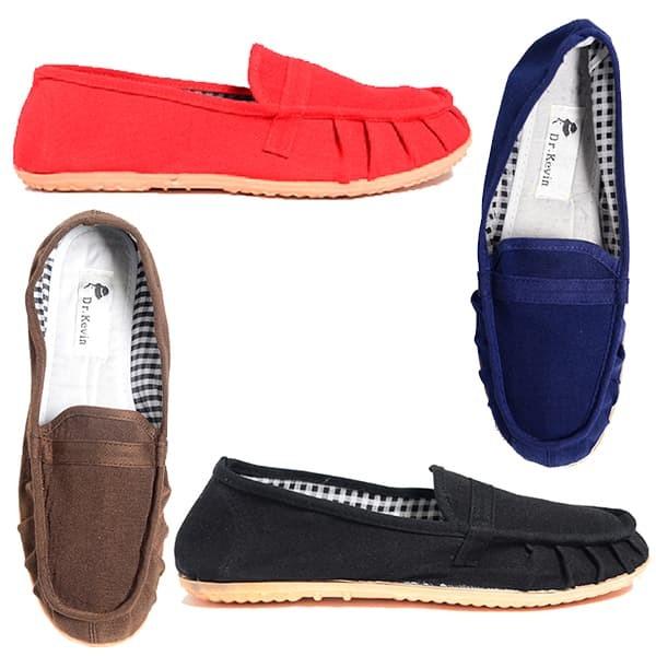 Jual Dr. Kevin Women Slip On 5306 (4 Colors) - Blue, Brown, Red, Black - Merah, 40 - Dr Kevin Shoes - OS | Tokopedia