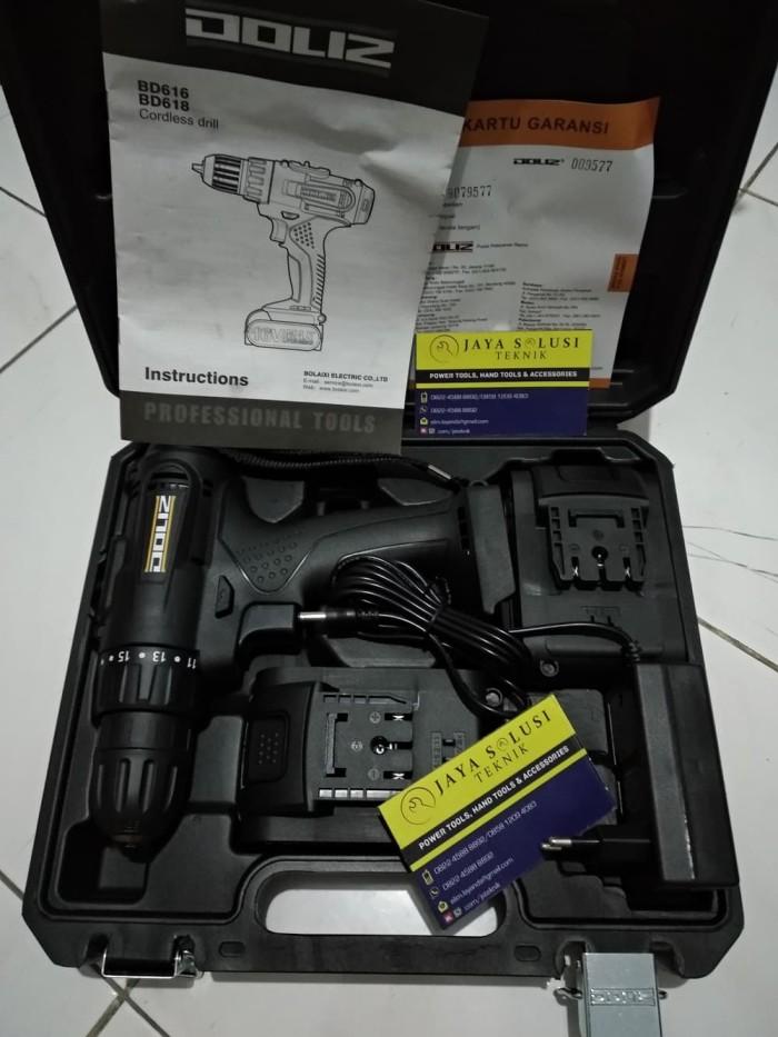 harga Doliz bd 618 cordless drill 21 volt 1.5 ah bor baterai bd618 21v Tokopedia.com