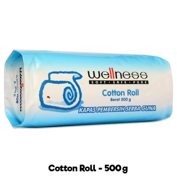 Wellness Cotton Roll 500 Gram Kapas Gulung Pembersih Serbaguna