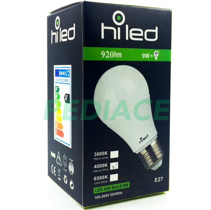 harga Lampu bohlam led hiled bulb 9w 9 watt natural white 4000k e27 920lm Tokopedia.com