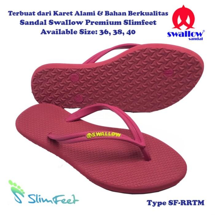 harga Sandal swallow premium slimfeet wanita rubyred tali merah - merah 38 Tokopedia .