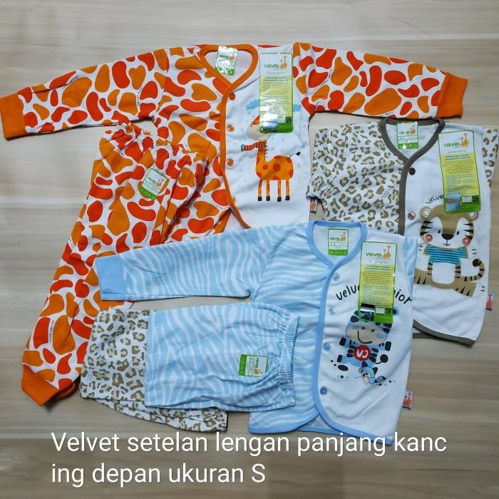 Velvet S setelan panjang baju tidur piyama bayi motif animal