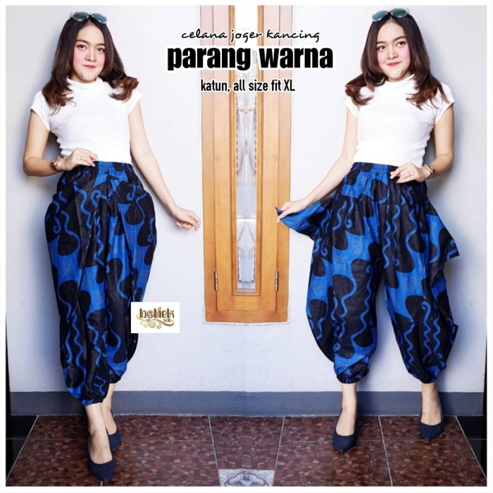 harga Batik solo celana joger kancing parang warna seri batiek batik amanah Tokopedia.com