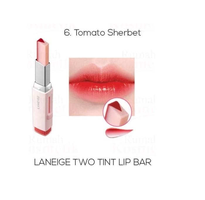 Laneige Two Tone Tint Lip Bar No. 6 Tomato Sherbet
