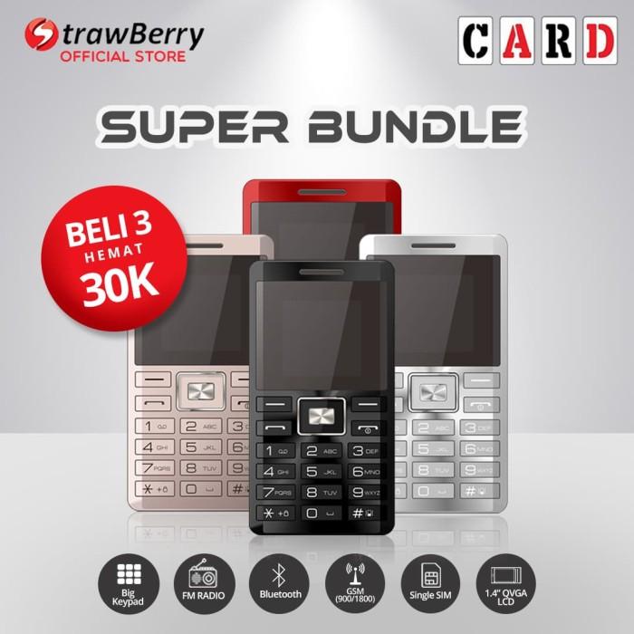 harga Strawberry card - paket bundle 3 / handphone candybar / bluetooth Tokopedia.com