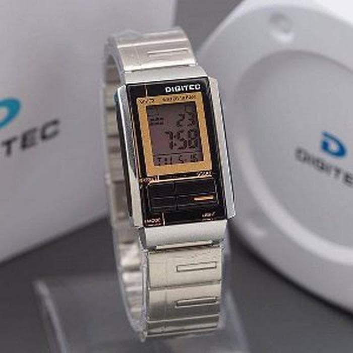 Jam Tangan Digitec DG-3022T Silver Black Diskon