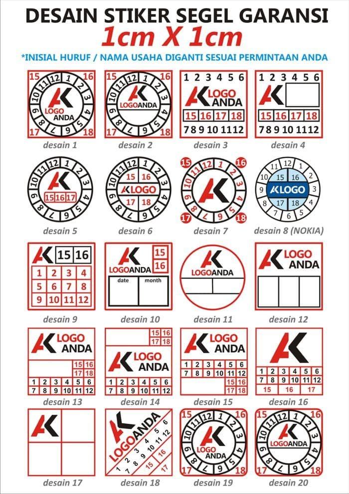 Terbagus Sticker Segel Garansi Pecah Telur Hq (Free Design)