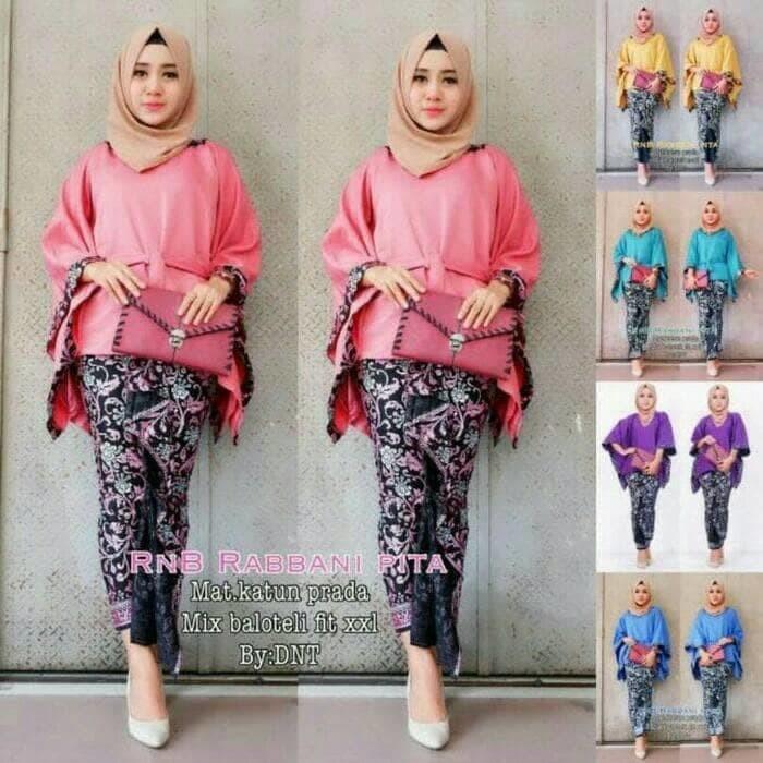 Jual Batik Kebaya Wanita Modern Seragam Keluarga Pesta Hijab Baju Muslim Keeley Mayorga Tokopedia