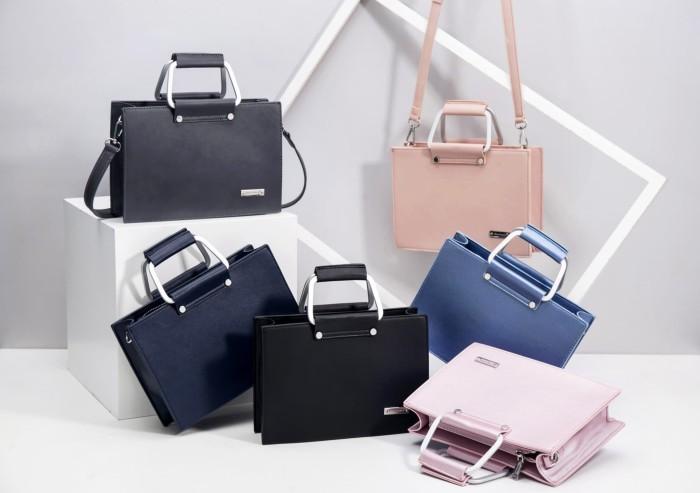 Tas wanita import Jimshoney Luna Bag - Pink Metallic