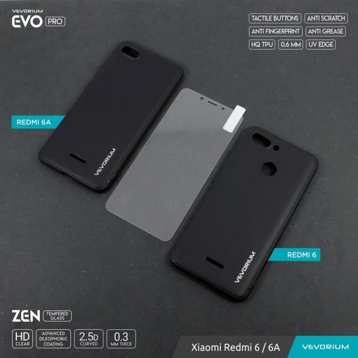 VEVORIUM EVO PRO Xiaomi Redmi 6 6A Soft Case Tempered Glass REDMI ENAM A