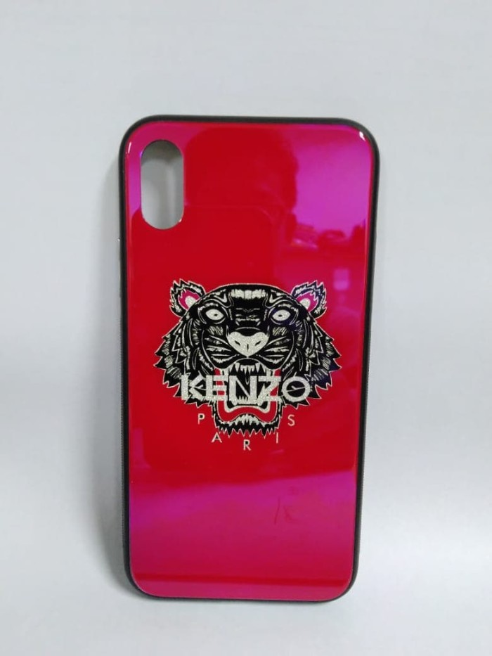 152733e9f1 Jual Premium Case iPhone X - Kenzo Glass Red - Tokobazaar.Gadgets |  Tokopedia