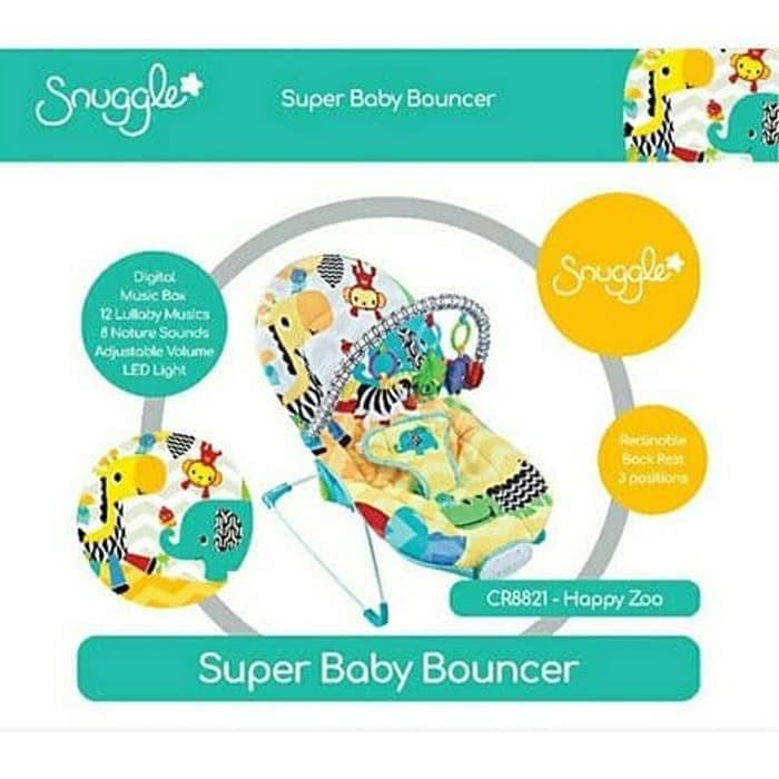 Bouncer Crown Snuggle Baby Bouncer Super Infant To Toddler Rocker - Blanja.com