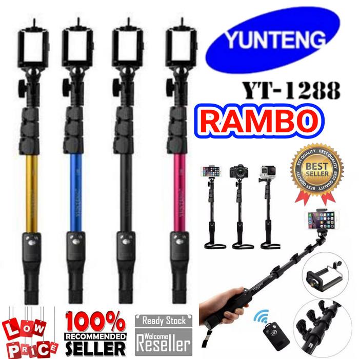 harga Tongsis bluetooth / yunteng 1288 / yunteng bluetooth yt 1288 selfie Tokopedia.com