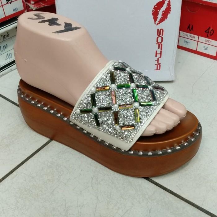 Jual Sofia sandal import wanita 6631 2 cewek sepatu wedges flat ... 24224d786d