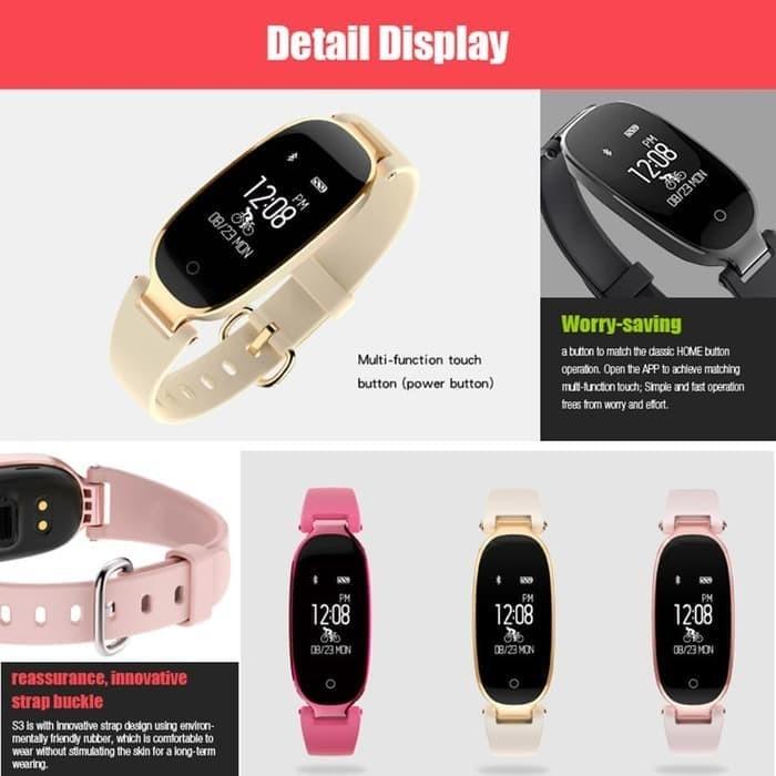 Jam Tangan Pintar Bracelet Gelang S3 - Smart Band bkn Xiaomi / Mi band