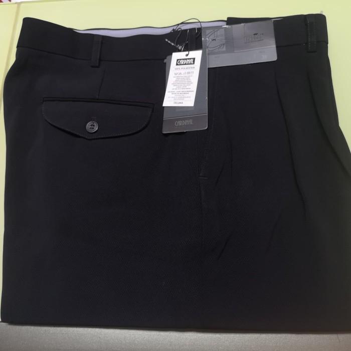 057001518 celana formal cardinal motif hitam regular ...