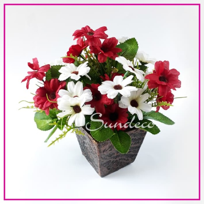 harga Rangkaian bunga 50 artifisial vas kayu hiasan dekorasi pajangan Tokopedia.com