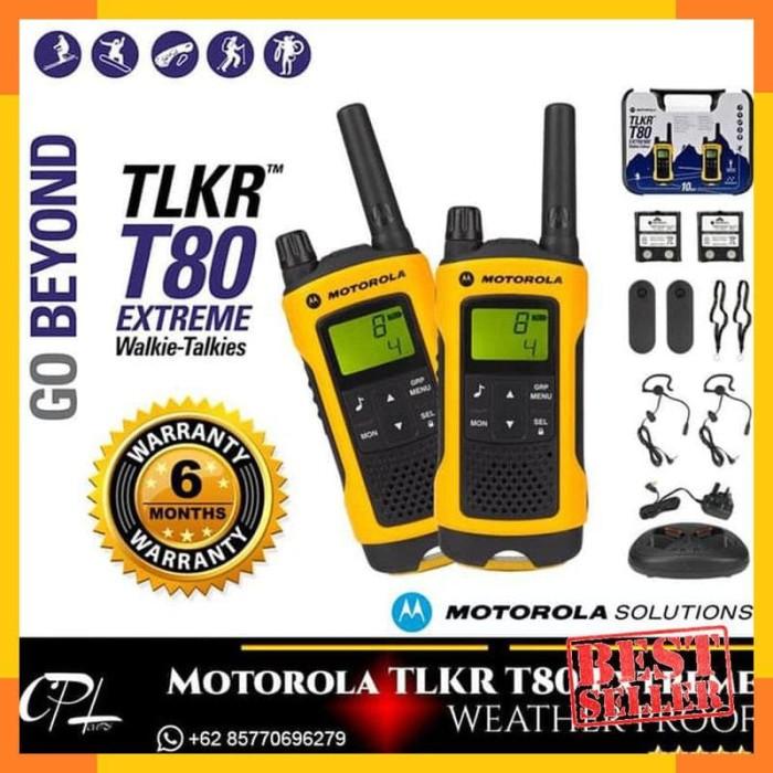 Baru - Motorola TLKR T80 Extreme Walkie Talkie Consumer Radio - HT -