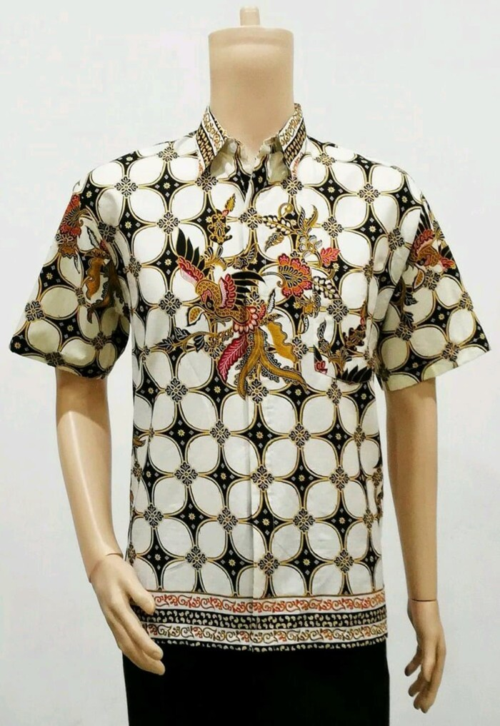 Jual Baju Batik Pria Kemeja lengan pendek Hem Cowok Kerja Ba Murah ... 5bebdd9f6b