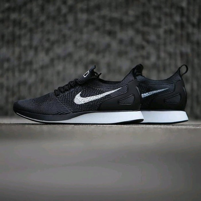 new styles a1a9f 201d4 Nike flyknit Racer Mariah Black White Diskon