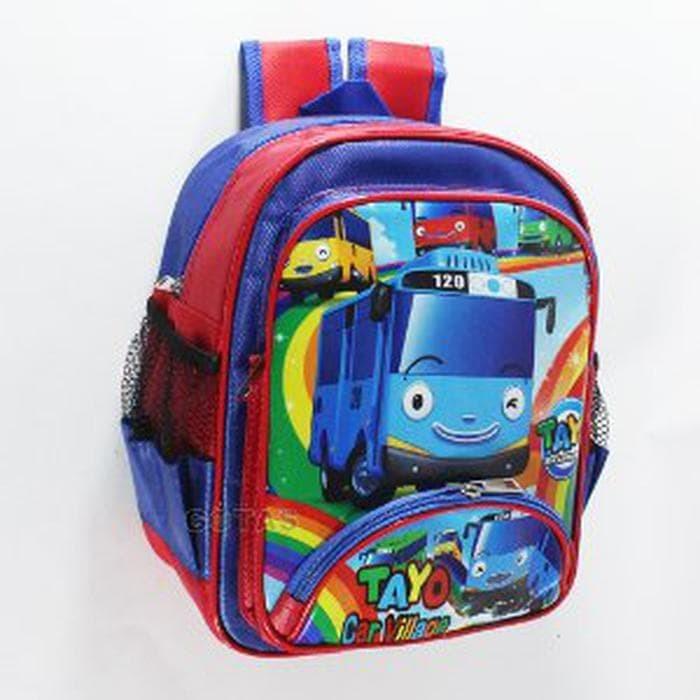 Tas Anak Sekolah PlayGroup PG Karakter TAYO Merah Biru Murah