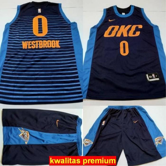 reputable site 01d28 3c9ee Jual [murah berkwalitas] Jersey Basket NBA OKC Navy WestBrook - DKI Jakarta  - putrajersey | Tokopedia
