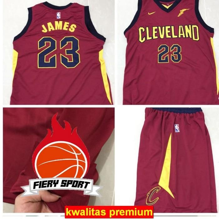 reputable site e0994 2b08d Jual [murah berkwalitas] Jersey basket NBA Clevland maroon ''Lebron James''  - DKI Jakarta - putrajersey | Tokopedia
